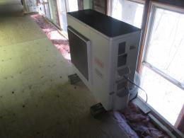 installed fujitsu heat pump