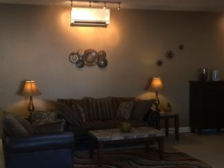 Heat pump installed in living room