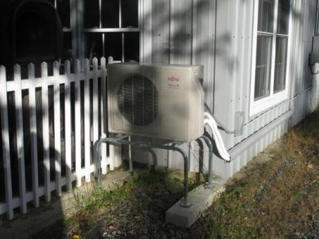 Pump outside