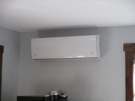 Pump on wall