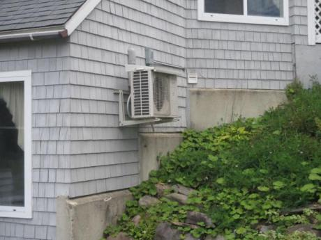 Single unit on exterior wall