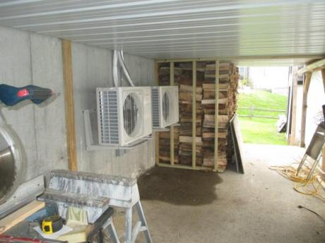 Outdoor units under deck