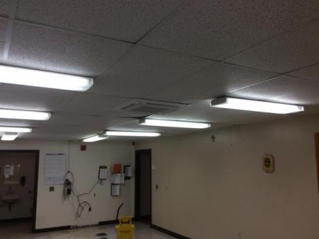 wide of pump in ceiling